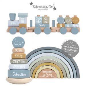 Little Dutch Geschenk-Set aus Holz blau | bedruckt
