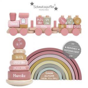 Little Dutch Geschenk-Set aus Holz rosa | bedruckt