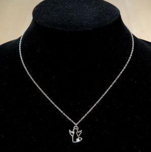 Gilde 51049 Schutzengel Halskette Edelstahl versilbert mit Spruch | by Schmatzepuffer® online kaufen