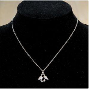Gilde 51052 Schutzengel Halskette Edelstahl versilbert mit Spruch | by Schmatzepuffer® online kaufen