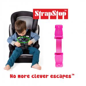 Gurtsicherung Abschnallschutz pink für Kinderwagen   StrapStop by Schmatzepuffer® online kaufen