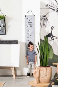 Jollein Wachstumsmesser 70 - 140 cm Filz Bear grey | by Schmatzepuffer®