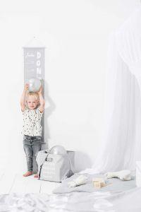 Jollein Messlatte 70-140cm ABC Grau | by Schmatzepuffer®
