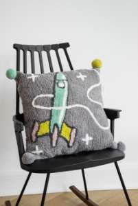 Minividuals Kinderzimmer Kissen Kissen Rakete grau | by Schmatzepuffer® online kaufen