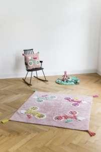 Minividuals Kinderzimmer Teppich Biker rosa/mehrfarbig   by Schmatzepuffer® online kaufen