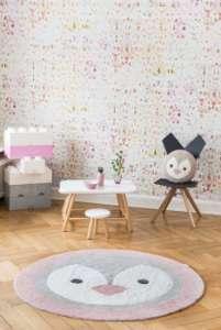 Minividuals Kinderzimmer Teppich Pinguin grau/rosa   by Schmatzepuffer® online kaufen