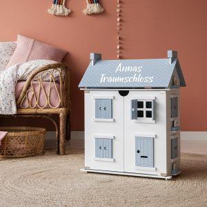 Little Dutch 4466 Holz Puppenhaus blau/weiß