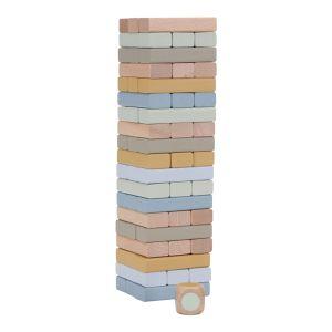 Holzturmspiel mehrfarbig   Little Dutch