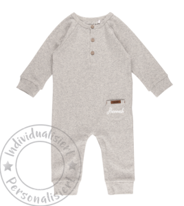 Little Dutch Overall - grey melange Gr.56   by Schmatzepuffer®