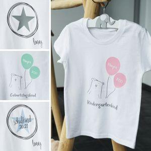 Kinder T-Shirt mit Namen 110-116   Personalisiert by Schmatzepuffer