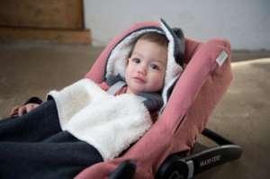 koeka Fußsack Teddy Buggy Kinderwagen 3-Punktgurt dunkelgrau weiss | by Schmatzepuffer® online kaufen