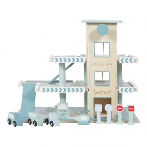 Parkgarage / Parkhaus Holz mint   Little Dutch