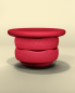 Mobile Preview: Stapelstein Balance Board SET red rot | by Schmatzepuffer® online kaufen