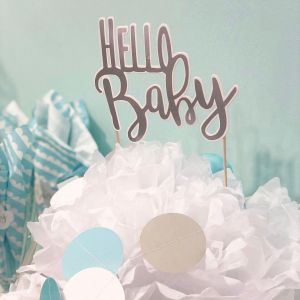 "JaBaDaBaDo Babyshower Baby-Shower-Party Paket ""It´s a Boy"" blau / weiß 
