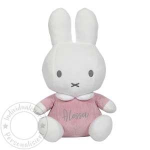 "Tiamo Miffy Knuffel 32 cm cord rosa/weiß   bySchmatzepuffer® ""personalisierbar"" online kaufen"
