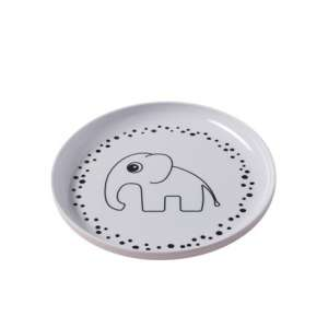 Yummy plate Kinderteller Happy dots powder rosa | by Schmatzepuffer® online kaufen