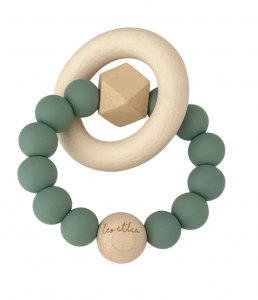 "leo et lea Beißring Hexa Baby Teether 'Sunset Collection' sage natur | by Schmatzepuffer® Laser Gravur ""personalisierbar"" online kaufen"