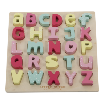Little Dutch 4369 Holzpuzzle Alphabet rosa | by Schmatzepuffer® online kaufen