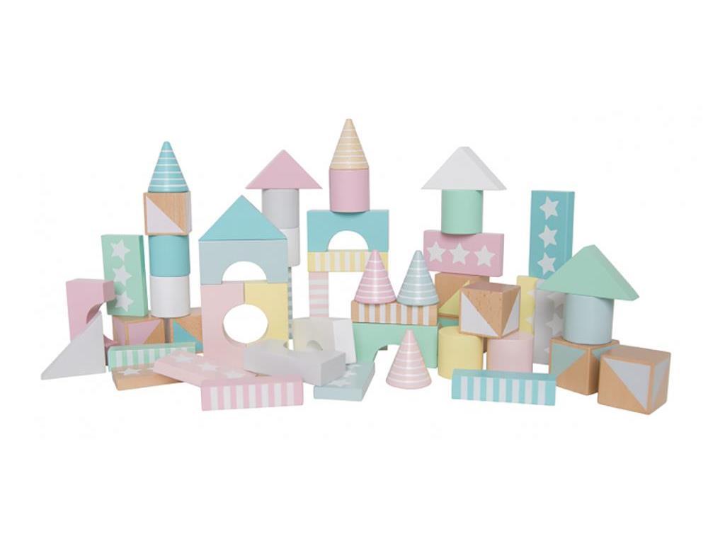 JaBaDaBaDo W7123 Holz Bauklötze Stapelklötze im Papiereimer pastell rosa mint | by Schmatzepuffer® online kaufen