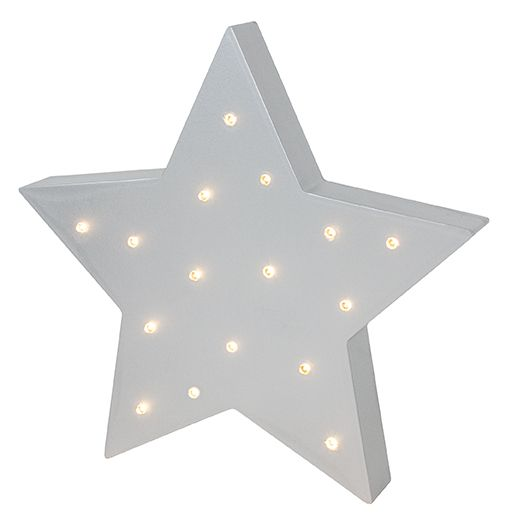JaBaDaBaDo R16037 Kinderzimmer LED Lampe für Wand/Tisch \'Stern\' grau ca.  23cm | by Schmatzepuffer® online kaufen