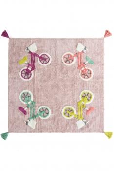 Kinderzimmer Teppich Biker Rosa Mehrfarbig By Schmatzepuffer Online Kaufen