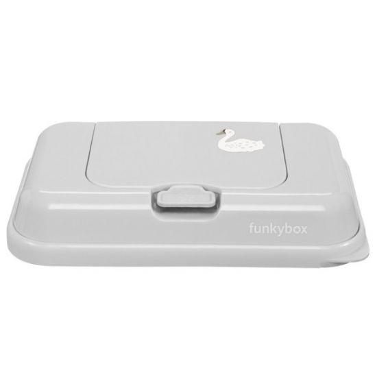 schmatzepuffer funkybox to go aufbewahrungsbox f r feuchtt cher grey swan by. Black Bedroom Furniture Sets. Home Design Ideas