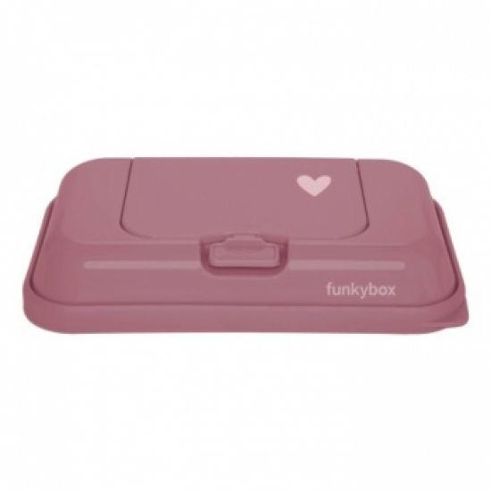 schmatzepuffer funkybox to go aufbewahrungsbox f r feuchtt cher punch pink heart by. Black Bedroom Furniture Sets. Home Design Ideas