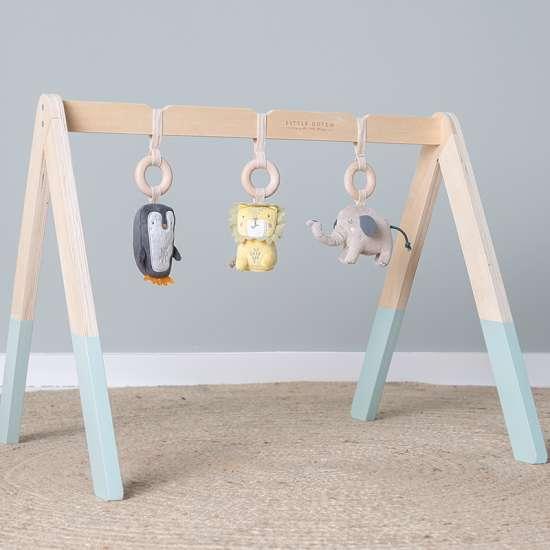 Little Dutch 4442 Holz Babygym Spieltrapez mit Spielzeug